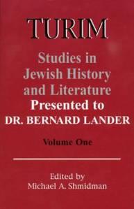 Turim: Studies in Jewish History and Literature