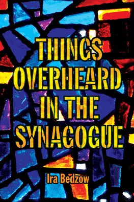 Things Overheard in the Synagogue